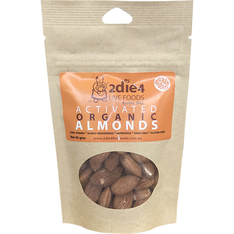 2die4 Activated Organic Almonds 40g